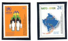 """(2WK-2) VEREINTE NATIONEN Im KOSOVO UNMIK Mi-Nr. 18-19  """"5 Jahre UNHCR"""", ** Postfrischt - Kosovo"""