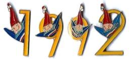 ALBERTVILLE 92 - JO63 - CHIFFRES 1992 JAUNES - Verso : C COJO/1992 - Juegos Olímpicos