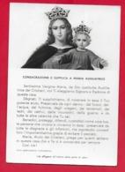 CARTOLINA VG ITALIA - Consacrazione E Supplica A Maria Ausiliatrice - 10 X 15 - 196? - Virgen Mary & Madonnas