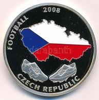 2008. 'Futball 2008. Csehország / Svájc - Ausztria' Festett, Ezüstözött Réz Emlékérme Tanúsítvánnyal (40mm) T:PP Small P - Munten & Bankbiljetten