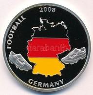 2008. 'Futball 2008. Németország / Svájc - Ausztria' Festett, Ezüstözött Réz Emlékérme Tanúsítvánnyal (40mm) T:PP Small  - Munten & Bankbiljetten