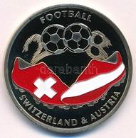 2008. 'Labdarúgás 2008. Ausztria / Svájc' Festett, Ezüstözött Réz Emlékérme (33mm) T:PP  2008. 'Football  2008. Austria  - Munten & Bankbiljetten
