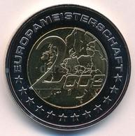 2008. '2008 - Európa-Bajnokság / 2006. Világbajnokság' Bimetál Emlékérem Tanúsítvánnyal (35mm) T:PP  2008.  '2008 - Euro - Munten & Bankbiljetten