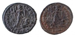 Római Birodalom 2db Klf Rézpénz, Közte Sirmium / II. Constantinus 324-325. AE Follis (2,71g) T:2,2- Roman Empire 2pcs Of - Munten & Bankbiljetten