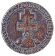 1934. 'XXV. Országos Katolikus Nagygyűlés - Actio Catholica' Br Lemezjelvény (34mm) T:2 - Munten & Bankbiljetten