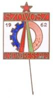1962. 'SZÖVOSZ (Szövetkezetek Országos Szövetsége)' Zománcozott Jelvény (24x20mm) T:1- - Munten & Bankbiljetten