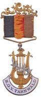 Ausztria DN 'M.G.V. Tannwald' Zománcozott Dalos Egylet Jelvény 'AD BELADA MARIAHILFERST. 54 WIEN' Gyártói Jelzéssel T:1- - Munten & Bankbiljetten