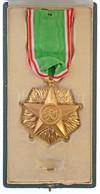 Olaszország 1947-2001. 'Olasz Szolidaritás Csillaga Rend III. Fokozata' Aranyozott Kitüntetés 'POZZI ROMA' Gyártói Jelzé - Munten & Bankbiljetten