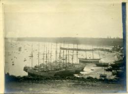 Photo Ancienne - Terneuviers Dans Le Port De CANCALE - Vers 1900 - Photos