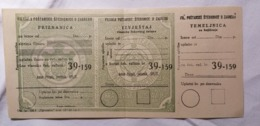 OLD FILIJALA POSTANSKE STEDIONICE SPLIT TEMELJNICA VLASNIK - ANTUN PILEPIĆ - SVECENIK - SPLIT  RRR - Cheques En Traveller's Cheques
