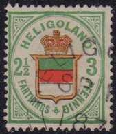 1876, 2 1/2 F. / 3 Pf., Grün/dunkelorange/zinnoberrot, Mit Rundstempel Type II HELIG(OLAND) SP 1(..) 187(..). Farbfrisc - Germania