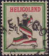 """1879, 1 Sh. / 1 M., Dunkelgrün/schwarz/karmin, Gezähnt, Mit Rundstempel Type V HELIGOL(AND) (...) 1 18(...)"""". Farbfrisch - Germania"""