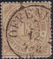 """1868, 18 Kreuzer Gezähnt, Stempel OFFENB-ACH 7.12"""" Fast Zentrisch,leichte Zähnungsmängel, Altsignatur Köhler Und Dr. Pir - Germania"""