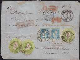 1858, Ausserordentliche Mischfrankatur Von Coeln Nach Paris, 3 X 6 Silbergroschen-Ausschnitte Und Ein Pärchen 2 Silbergr - Germania