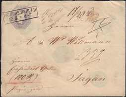 1852, Ganzsache 5 Sgr. Oktogon Nach Sagan, Gestempelt Friedrichshuld, AK-Stempel Ausg., Wst.-Nr. Nicht Ersichtlich, Form - Germania