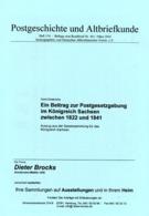 Königreich Sachsen Postgesetze 1822 Bis 1841 - Von Horst Diederichs  (DASV) PgA 154 Aus 2004 - Saxony