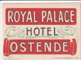 OSTENDE ROYAL PALACE HOTEL-ARDENNE CHATEAU ROYAL D,ARDENNE - Publicité