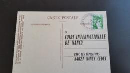 Carte Postale -Foire Internationale De Nancy - Année 1978 - Timbre N° YetT 1973 - Francia
