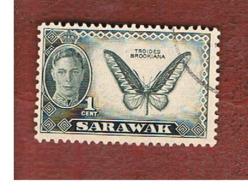 MALESIA: SARAWAK (MALAYSIA) -  SG 171   -  1950  BUTTERFLIES: TROGONOPHERA  BROOKIANA      - USED ° - Gran Bretaña (antiguas Colonias Y Protectorados)