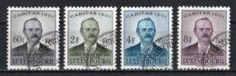 Luxembourg 1951 : Timbres Yvert & Tellier N° 449 - 450 - 451 Et 452 Oblit. - Gebruikt