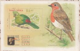 SOUTH AFRICA 2000- BIRDS- Kynsna Touraco & Eurasian Robin - M/S- MNH- Vogel- Oiseaux -Aves- - Cuckoos & Turacos