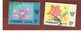 MALESIA: SARAWAK (MALAYSIA) -  SG 235.237   -  1979 FLOWERS  - USED ° - Malesia (1964-...)