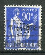 15015  FRANCE  N° 368 ° 90c Outremer Type Paix  Perforés  W Et A ? Entrelacés    1937  TB - France