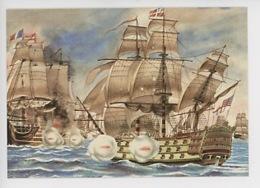 Bataille Navale : Victory Contre Bucentaure (France) Aquarelle Bernard Louviot - Cp Vierge - Velieri