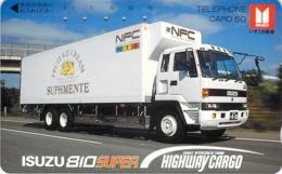 ISUZU -CAMION TRUCK  AUTO  - VOITURE - AUTOMOBILE - CAR -- TELECARTE JAPON - Voitures