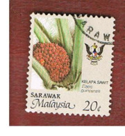 MALESIA: SARAWAK (MALAYSIA) -  SG 259   -  1986 AGRICULTURAL PRODUCTS: PALM OIL (SHIELD  RED-WHITE-BLUE) - USED ° - Malesia (1964-...)
