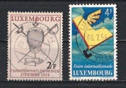 Luxembourg 1954 : Timbres Yvert & Tellier N° 482 Et 483 Oblit. - Gebruikt