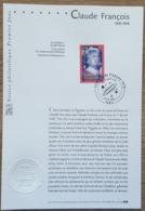 FDC Sur Document - YT N°3391 - ARTISTES DE LA CHANSON / CLAUDE FRANCOIS - 2001 - 2000-2009