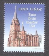 150th St. Peter's Congregation In Tartu Estonia 2019 MNH Stamp Mi 967 - Estonie