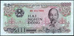 VIETNAM Viet Nam - 2.000 Dong 1988 {small Serial # Digits} UNC P.107 A - Vietnam