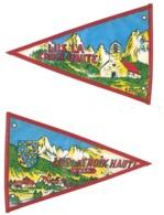 Fanion Ancien Plastifié Lus La Croix Haute / Chapelle De La Jarjatte, Drôme, Vintage Camping, Caravane - Camping