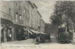 Ardèche : Privas, Cours De L'Esplanade, (Locomotive) - Privas
