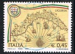 2004 - ITALIA / ITALY - LE REGIONI ITALIANE - LA LIGURIA / THE ITALIAN REGIONS - LIGURIA - USATO / USED. - 2001-10: Usados