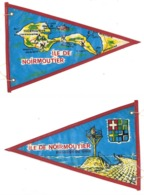 Fanion Ancien Tissu / Plastifié, Ile De Noirmoutier , Passage Du Gois, Vintage Camping, Caravane - Camping
