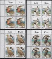 "BRD, 1991 Nr. 1539-1542 **,  4 Viererblöcke Mit Eckrand Oben Links, ""Tierschutz: Bedrohte Seevögel"" - [7] République Fédérale"