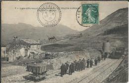 Ardèche : Le Pouzin-Aubenas, Ligne Du Chemin De Fer, En Gare Du Moulin - Le Pouzin