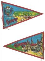 Fanion Ancien Tissu / Plastifié, Fécamp , Vintage Camping, Caravane - Camping