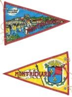 Fanion Ancien Tissu / Plastifié, Montrichard, Château Féodal, Vintage Camping, Caravane - Camping