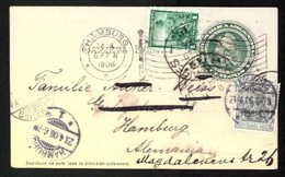 ARGENTINA. 1906. Buenos Ayres To Hamburg (Germany), Where READDRESSED Localy With GERMAN Stamp 2pf Grey Germania. 4 Cent - Argentinien