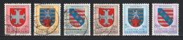 Luxembourg 1958 : Timbres Yvert & Tellier N° 553 - 554 - 555 - 556 - 557 Et 558 Oblit. - Gebruikt