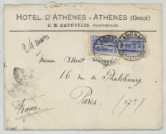 Longue Lettre 1912 à En-tête De L'Hôtel D'Athènes . Albert Meurgé Maire Du 5e Arr. à Sa Femme à Paris . Courvelis . - Grecia