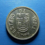 Portuguese India 1 Rupia 1935 Silver - Portugal