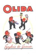 2 Buvards OLIDA , Symphonie Des Gourmets, Signé D'après Tuckson / Jambon, Saucisson ( Charcuterie, Musique, Musiciens ) - Löschblätter, Heftumschläge