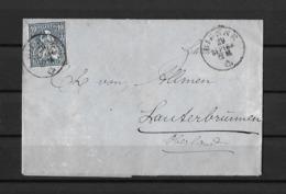 1862-1881 Sitzende Helvetia (gezähnt) → 1864 Brief BIENNE (Neuhaus-Bridel Und Cie) Via UNTERSEEN Nach Lauterbrunnen - Storia Postale