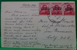 SUR CARTE POSTALE 3 TIMBRES  PHILIPPINES SURCHARGES . 1939 . ON PC : 2c Rizal Overprinted Common-Wealth In LARGE LETTERS - Philippinen