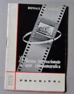 XI MOSTRA INTERNAZIONALE D'ARTE CINEMATOGRAFICA VENEZIA 1950 Programma - Cinéma